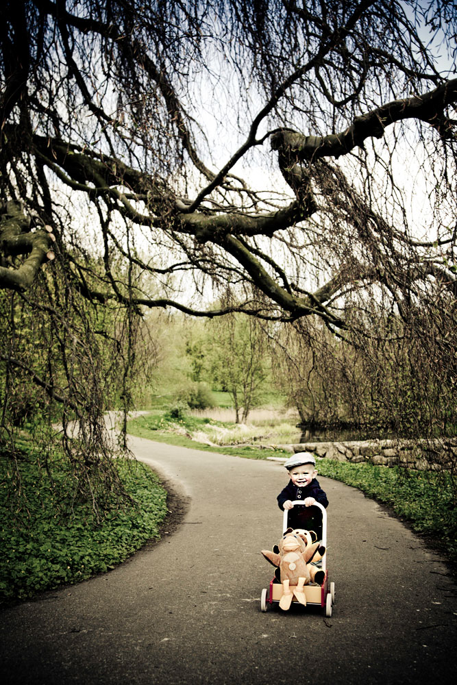 børnefotos i naturen ved Århus