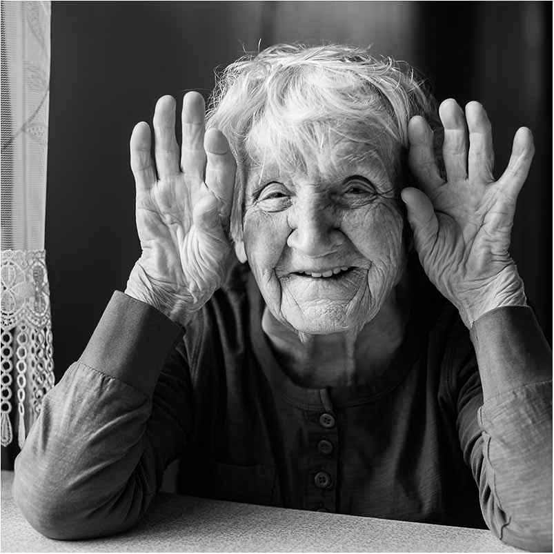 gammel dame portrætfoto