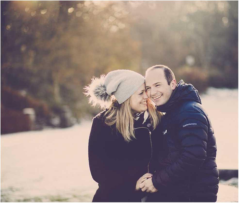 portrætfoto af forlovede Saltum